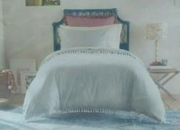 OpalHouse Twin/ XL Twin Tassel Duvet Cover Set Light Blue