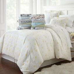 Ultra Soft 3 Piece Patterned Duvet Cover Set Summer Collecti
