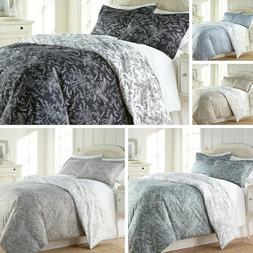 Ultra Soft 3-piece Reversible Winter Brush Floral Duvet Cove