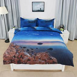 US 3D Galaxy Sky Cosmos Bedding Set Duvet Cover Quilt Cover