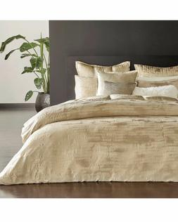 Donna Karan Vapor Gold Full Queen Duvet Cover ONLY NEW