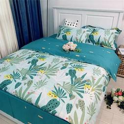 VCLIFE Children Twin Bedding Duvet Cover Sets Cotton Flower