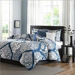 Madison Park Vienna Duvet Cover Full/Queen Size - Indigo Blu