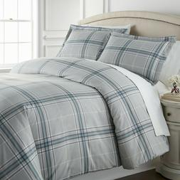 Vilano Plaid Reversible Duvet Cover Sets
