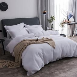 Merryfeel Cotton Duvet Cover Set,100% Cotton Waffle Bedding
