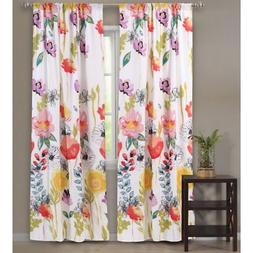 Greenland Home Fashions Watercolor Dream Window Panel Pair