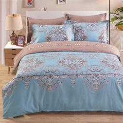 Well-made Polyester Reversible Duvet Cover Set Soft Duvet Co