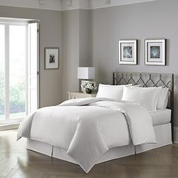 White Modern Pearlized Helix Patterned 300 TC Luxury Duvet S