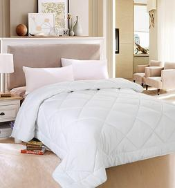 White Queen Size Comforter Duvet Insert Cover Set Quilted Be