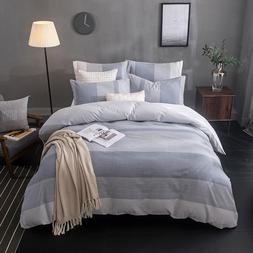 Merryfeel yarn dyed Duvet Cover Set bedding 100% cotton soft